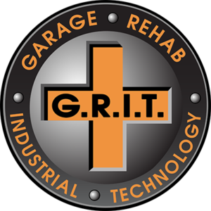 Garage Rehab Industrial Epoxy Flooring Technology Logo