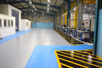 Industrial Epoxy Flooring in Manufacturing Plant