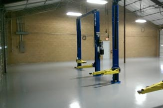 Mechanics Shop with Commercial Epoxy Flooring