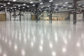 Warehouse with Epoxy Flooring